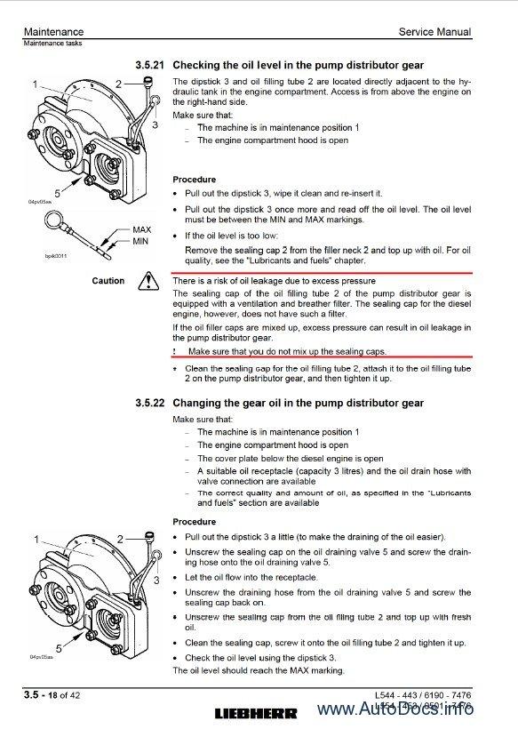 Liebherr L544 - L554 2plus2 workshop service manual, repair manual