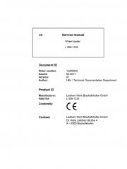 Repair manuals Liebherr L556 - 1332 Wheel Loader Service Manual PDF