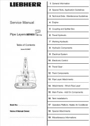 Repair manuals Liebherr RL 22-52 Pipe Layers Series 2 Litronic Service Manual PDF