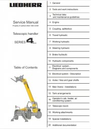 Repair manuals Liebherr TL441, TL451 Telescopic Handler Series 4 Litronic Service Manual PDF