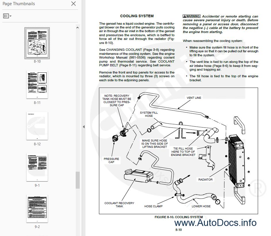 Cummins Onan Generator Hdkba   Hdkbb Service Manual