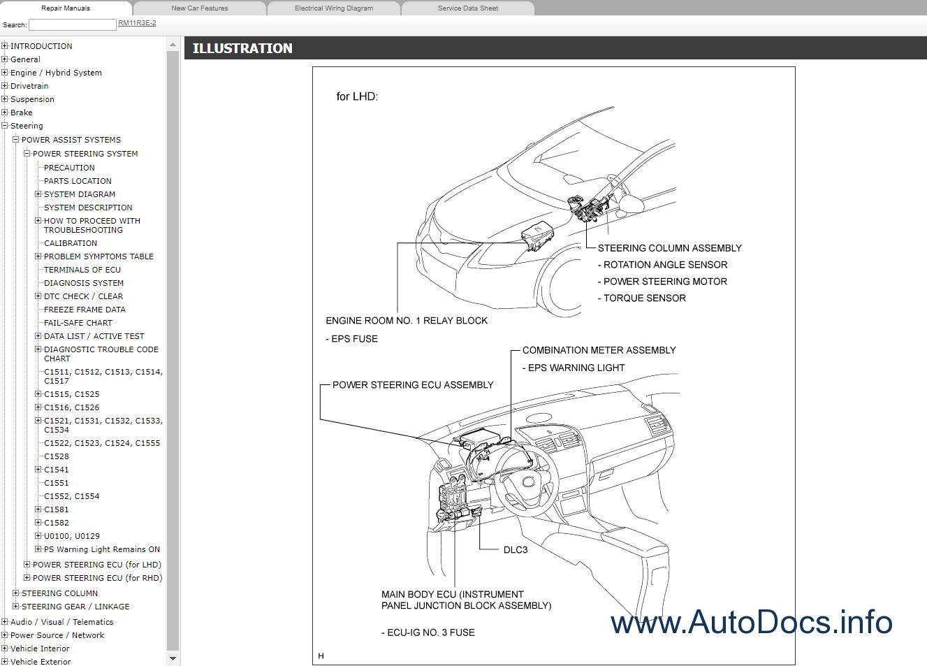 2008 Toyota Corolla Matrix Electrical Wiring Diagram Service