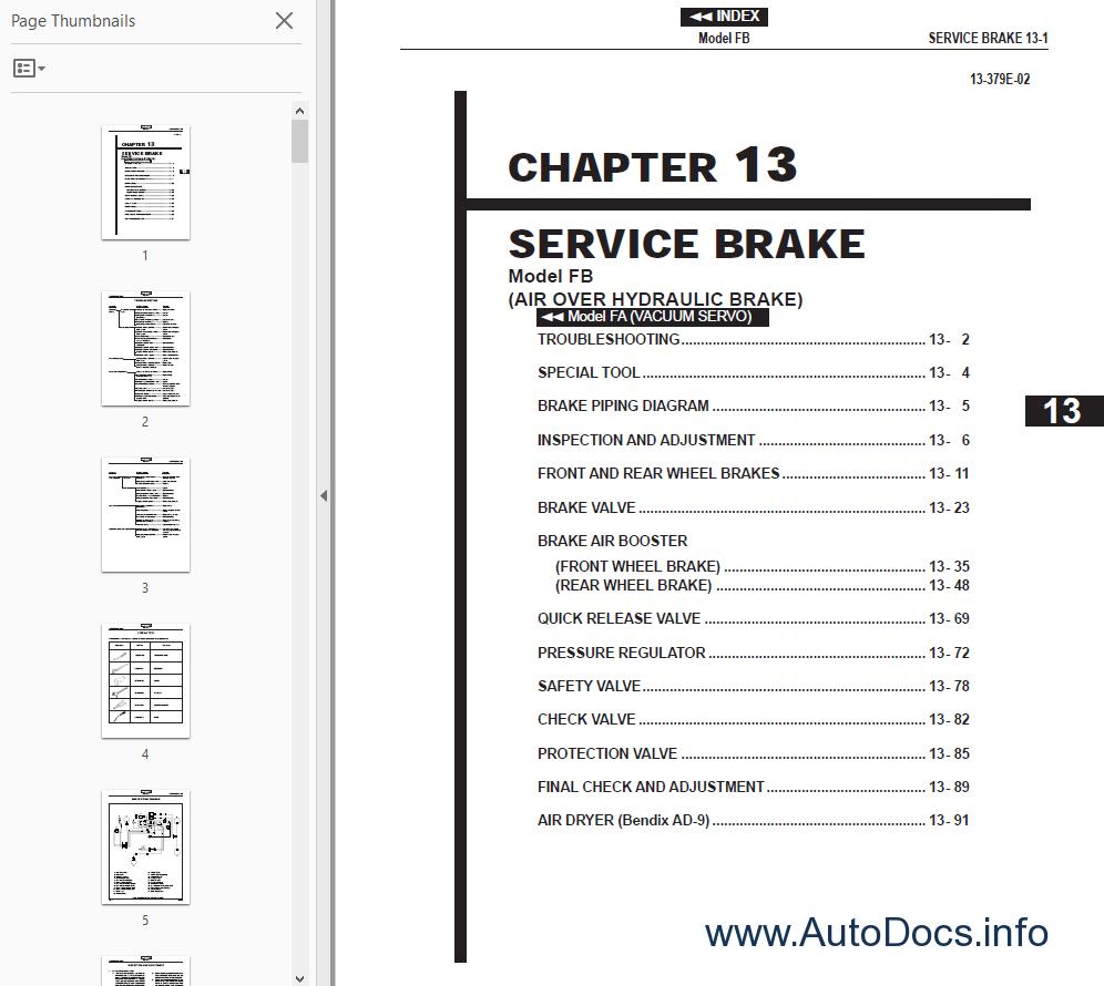 Hino Workshop manual