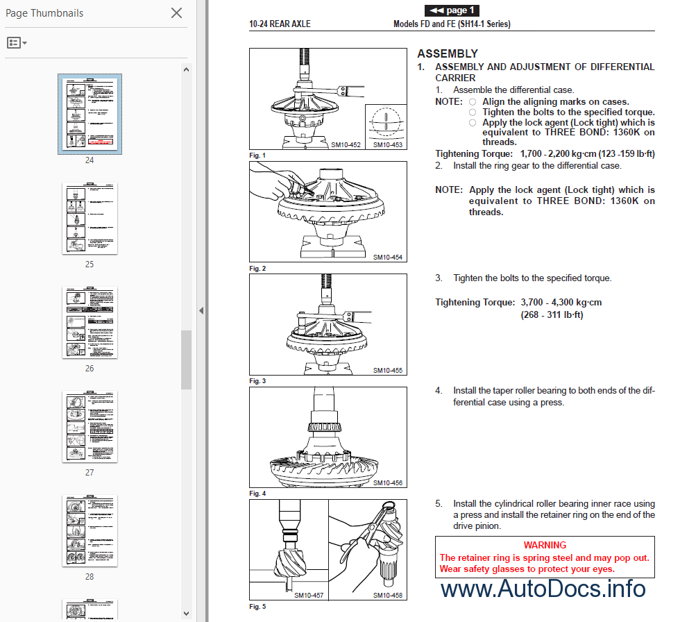Hino Truck FD FE FF SG 2002 Chassis Body Electrical Workshop Manual